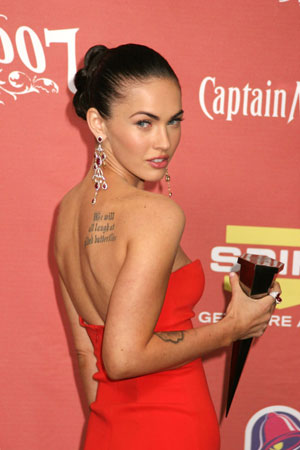 megan fox tattoos removed. megan fox tattoos