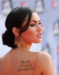 megan fox gilded butterflies tattoo