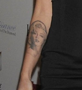 megan fox marilyn monroe tattoo