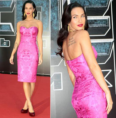 megan fox armani dress