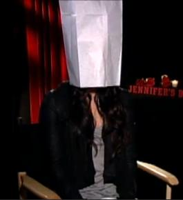 megan fox with bag on her head