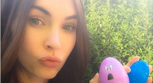 Megan Fox looks pretty as a princess after Easter celebration in LA